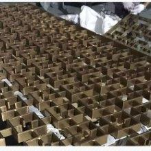 海南三亞酒店會所金屬隔斷裝飾_定制玫瑰金不銹鋼花格_背景墻屏風圖片