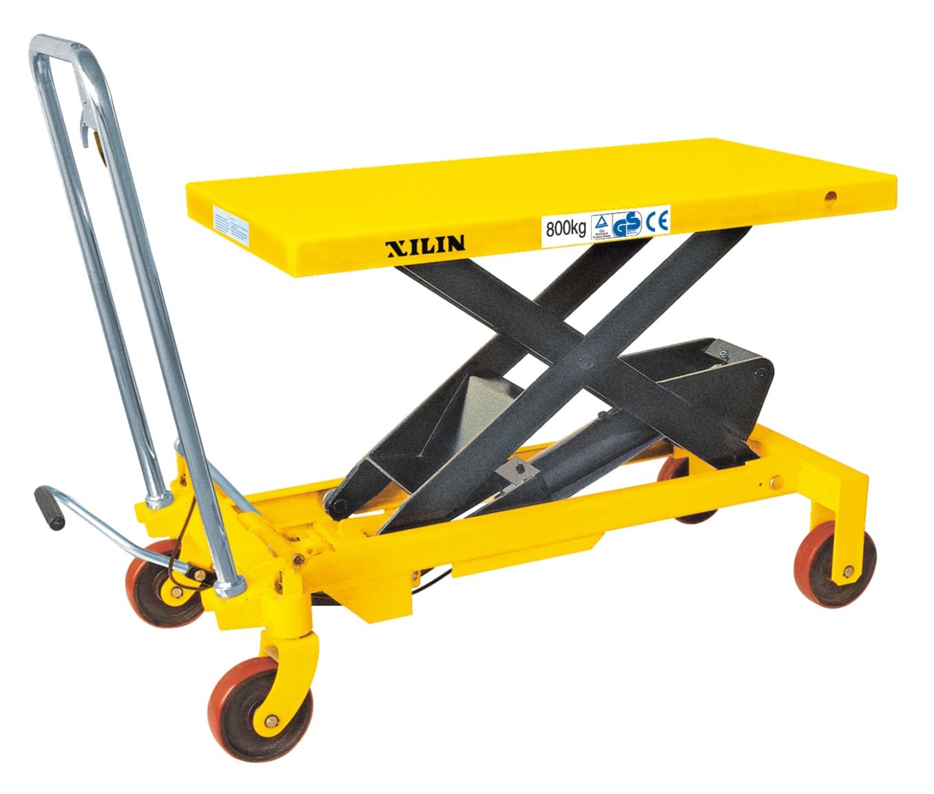 8吨液压升降平台车升高1米 小型升降装卸车叉车图片