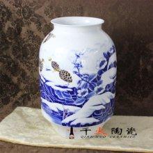 景德镇陶瓷厂家供应青花山水花瓶