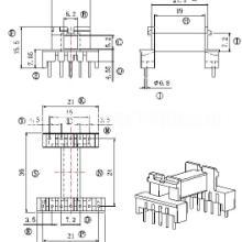 EEL19骨架变压器骨架 直插 卧式5+7 BOBBIN