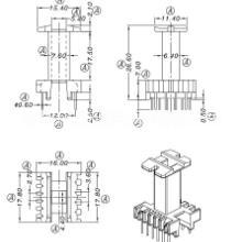 EEL16骨架 EEL16变压器骨架 立式4-6针 HX-1633