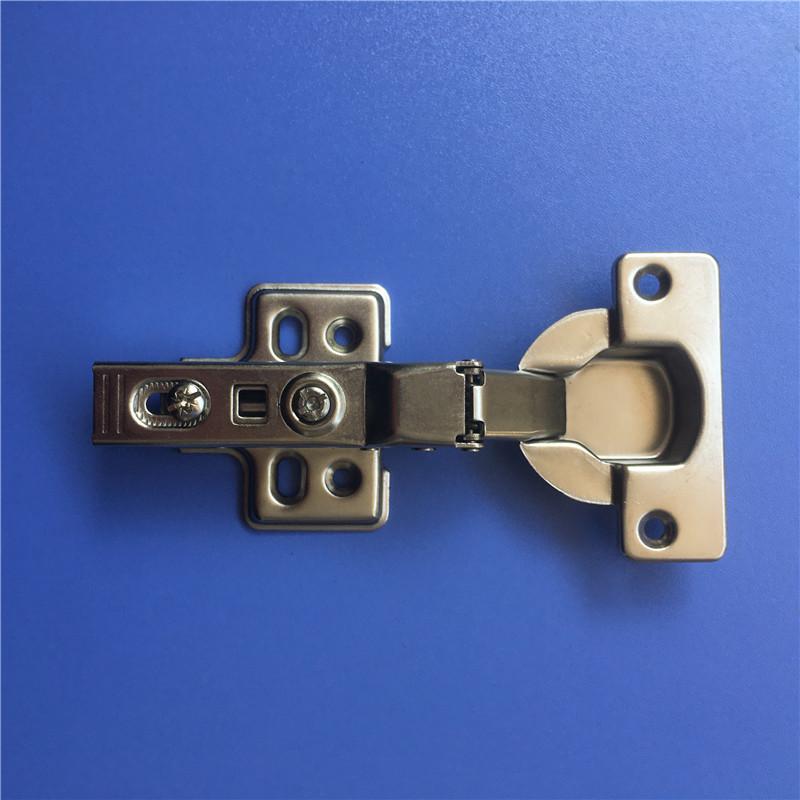 40杯固装液压中弯铰链盖25-30mm板液压铰链合页橱柜衣柜家具门铰链加厚半盖合页
