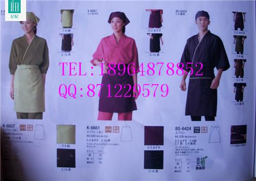 日餐厅工作服新款 日本和服 酒店服务员工作服定制 回转寿司服装定做
