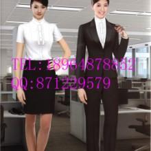 银行女营业员工作服上海亿妃服饰 柜台服务人员制服 行政人员西装定制批发