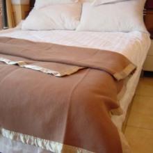 驼色蓝色毛毯宾馆酒店用毛毯批发
