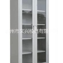 资料档案文件柜玻璃对门开储物钢制文件柜定制批发图片