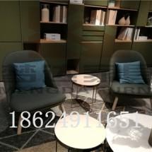 欧式休闲创意设计师沙发椅小户型客厅布艺单人酒店咖啡洽谈椅