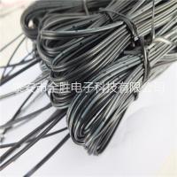 厂家加工  2468-22awg黑印竹节并线   黑色双并线 排线