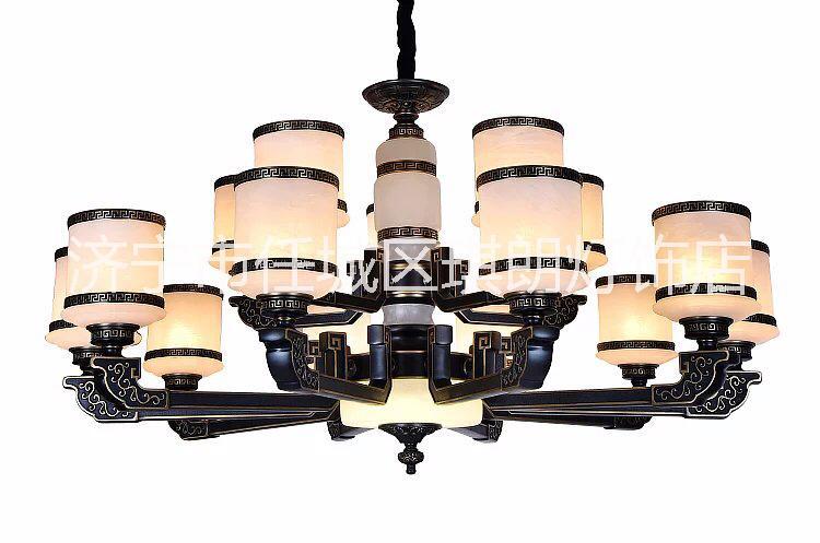 新中式吊灯 济宁卖高档灯具的店面 新中式led吊灯 云石灯