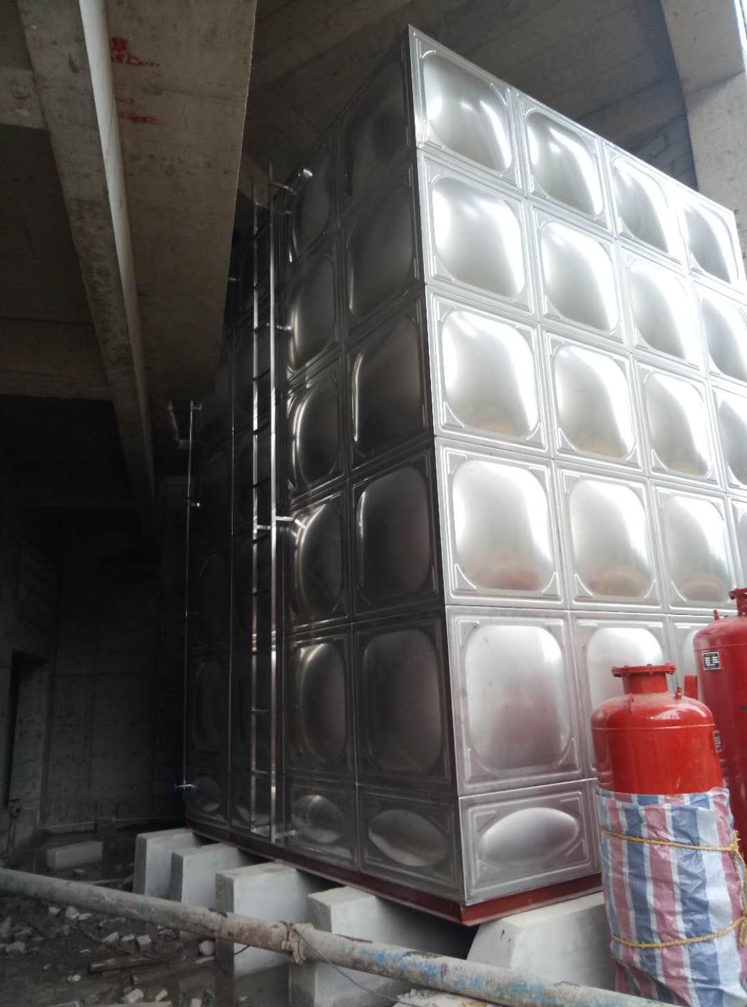 一般纳税人厂家直销高位消防水箱,地下室生活水箱定制安装! 高位不锈钢消防水箱