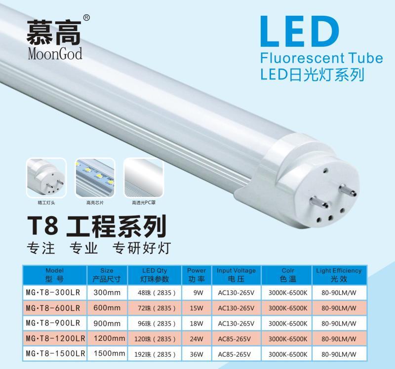 LED日光灯管 T8一体化灯管  LED日光灯厂家现货