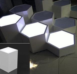 六边形发光橱窗图片
