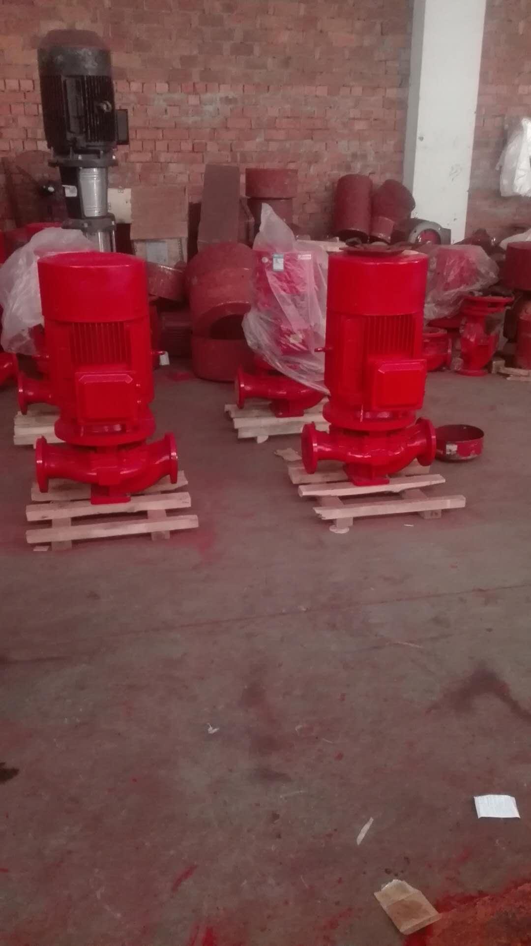 22千瓦消防泵流量20升每秒XBD7.8/15-80G*5/5层实验室安装37千瓦消火栓泵/3CF卧式稳压泵