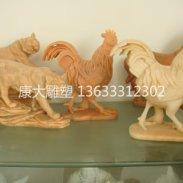 河北康大雕塑石雕12生肖雕塑动物图片