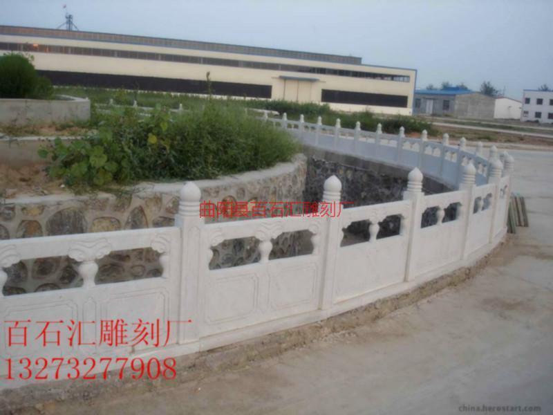 河北石栏杆报价 草白玉栏杆制作  河北石栏杆 草白玉栏杆