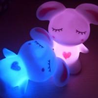 七彩迷你小夜灯搪胶玩具