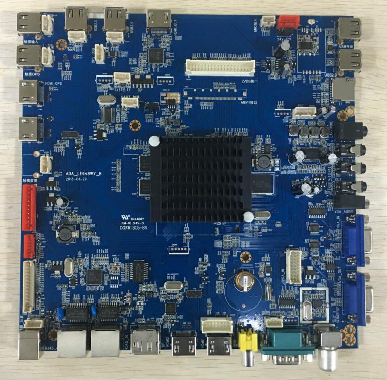 供应安卓4K四核TV驱动主板安卓系统4.3 安卓教学一体机双系统电视驱动主板