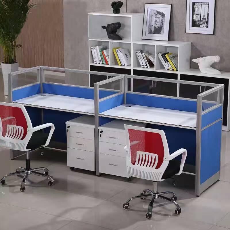 简约现代办公家具职员办公桌2/4/6人屏风卡位办公桌工作位组合