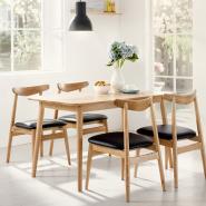 北欧白橡实木餐椅简约家用椅子日式图片