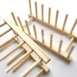 厂家直销 厨房整理置物架 松木餐具沥水架 品质保证