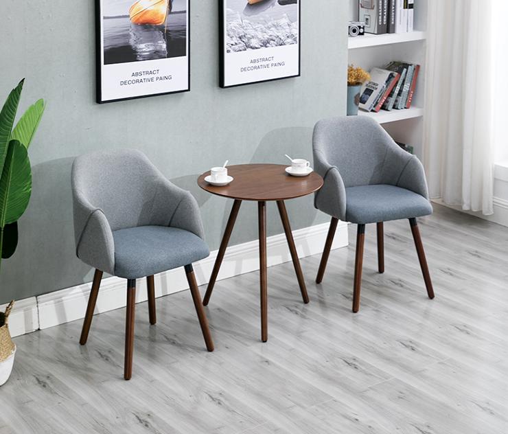 北欧现代简约实木餐椅艺阳台餐厅桌椅组合咖啡厅靠背扶手书桌椅 北欧现代简约实木餐椅布艺阳台餐椅