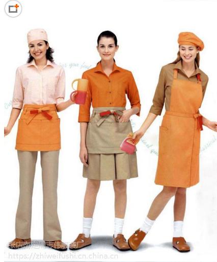 供应杭州咖啡馆工作服装定做|杭州咖啡厅服务员工作服定做