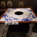 青花瓷餐椅现代实木酒店餐厅餐桌椅图片