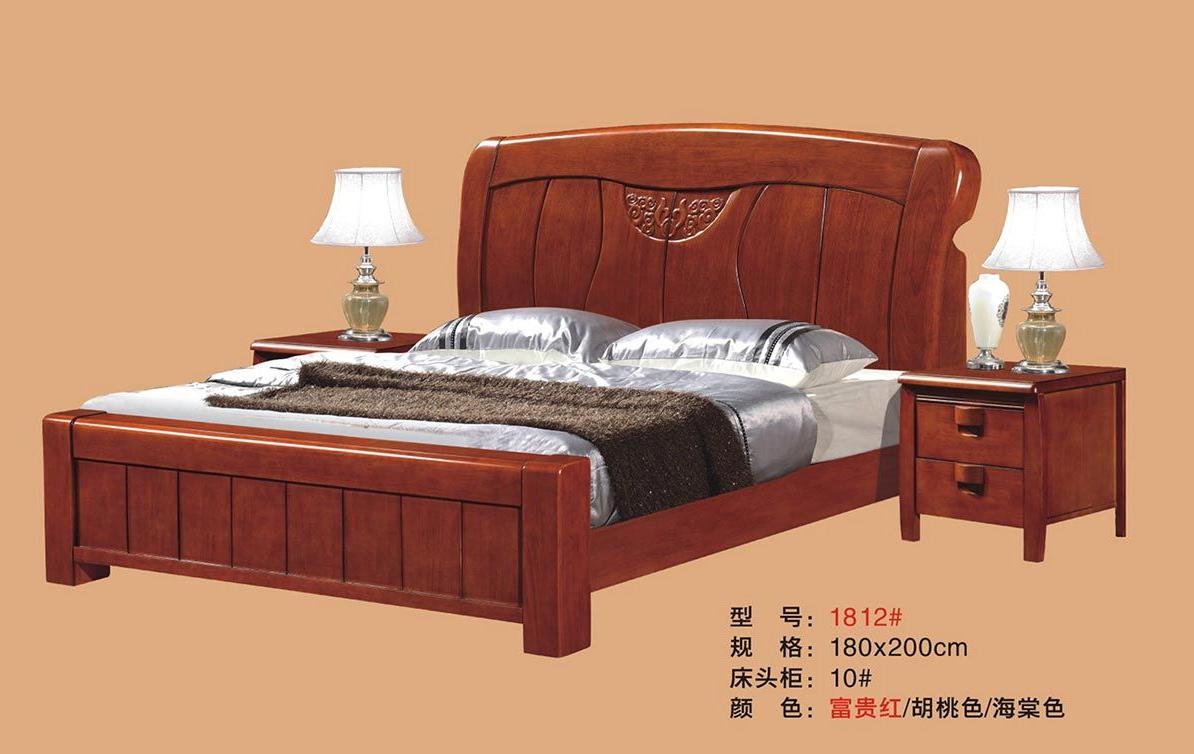 现代居家舒适1.8m主卧双人床 1812#