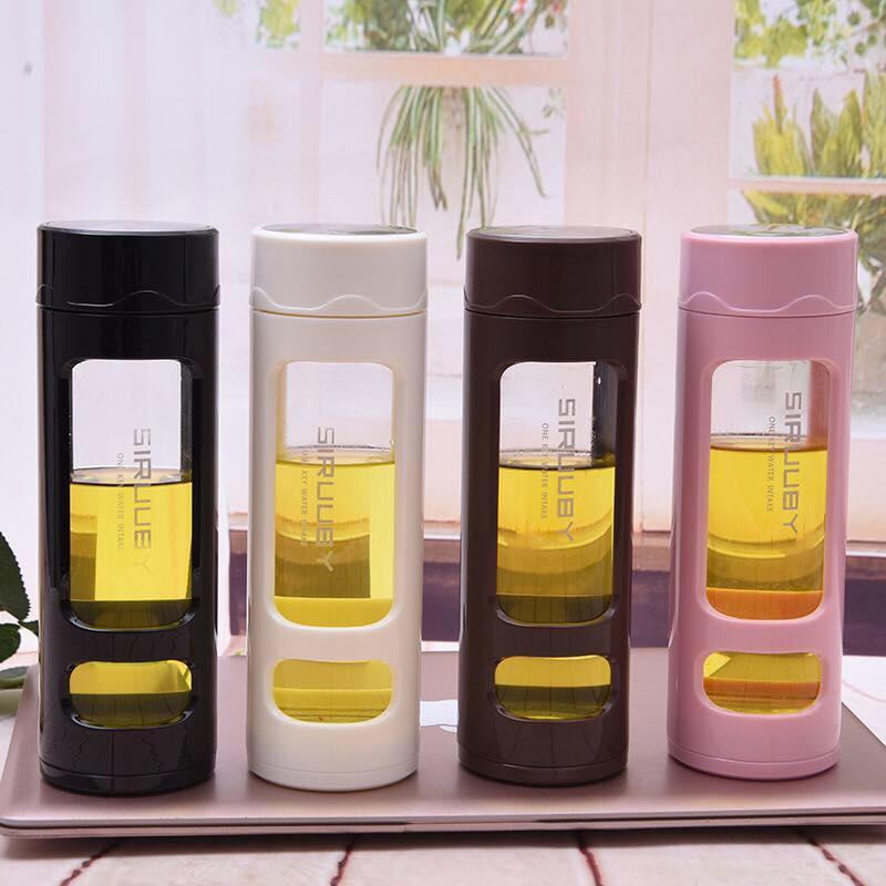 2018新款创意透明玻璃杯双层防烫水杯办公花茶杯广告礼品杯定制 创意玻璃杯