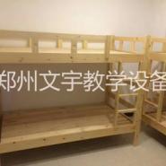 木蜡油中式松木实木子母床儿童床上图片