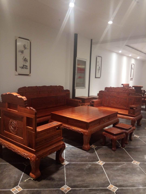 红木沙发 客厅组合大户型别墅大气款明清古典宝马家具 红木家具