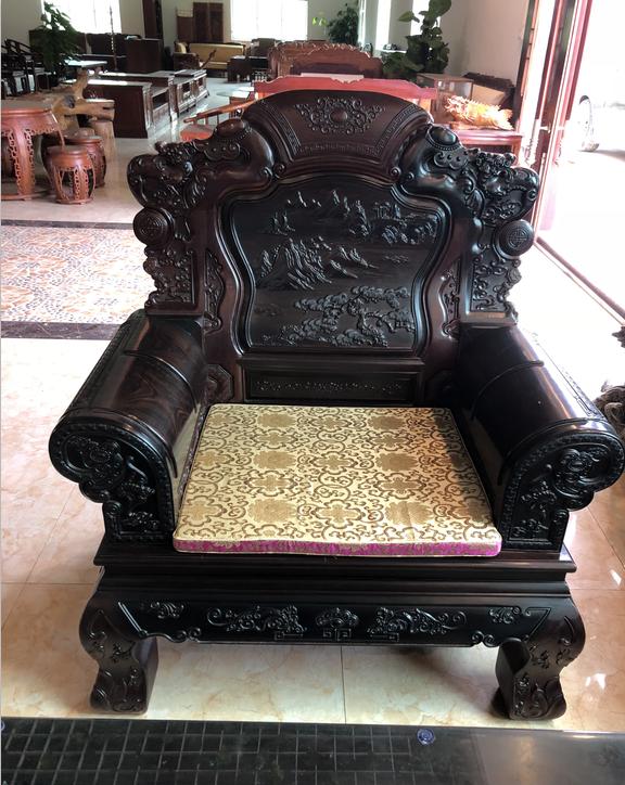 实木转角沙发组合中式仿古雕花沙发多组合现代客厅  实木椅子