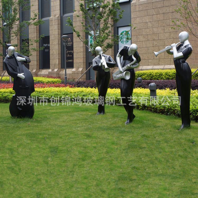 批发玻璃钢人物雕塑 玻璃钢楼盘人物雕塑 玻璃钢音乐人雕塑
