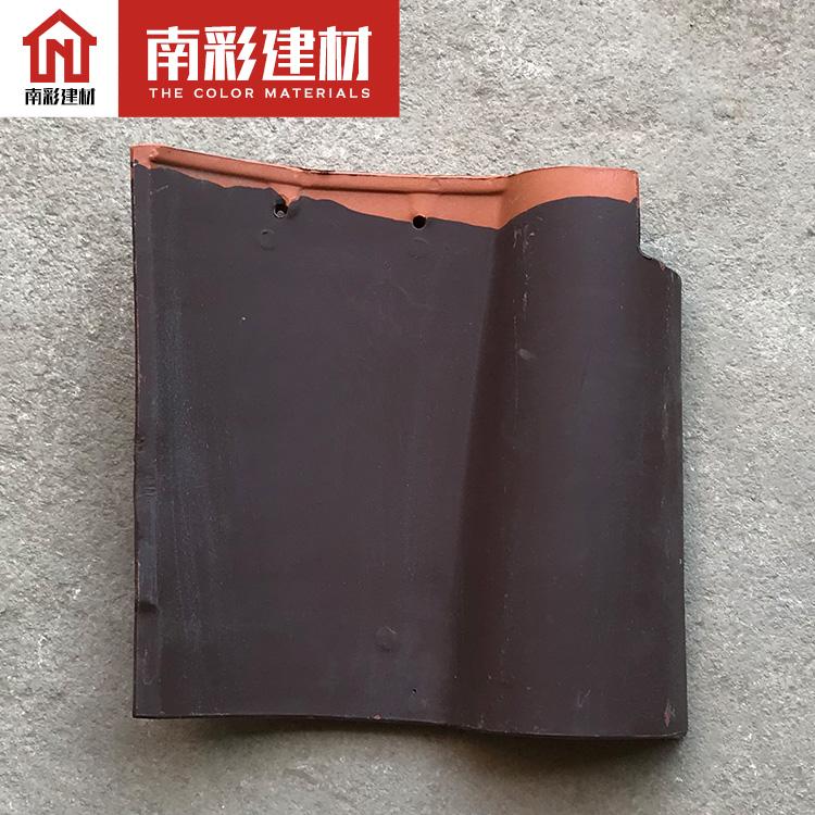 供应批发全瓷陶瓷瓦 铁红310*310 屋面波浪形别墅琉璃瓦 屋顶西班牙瓦 彩瓦