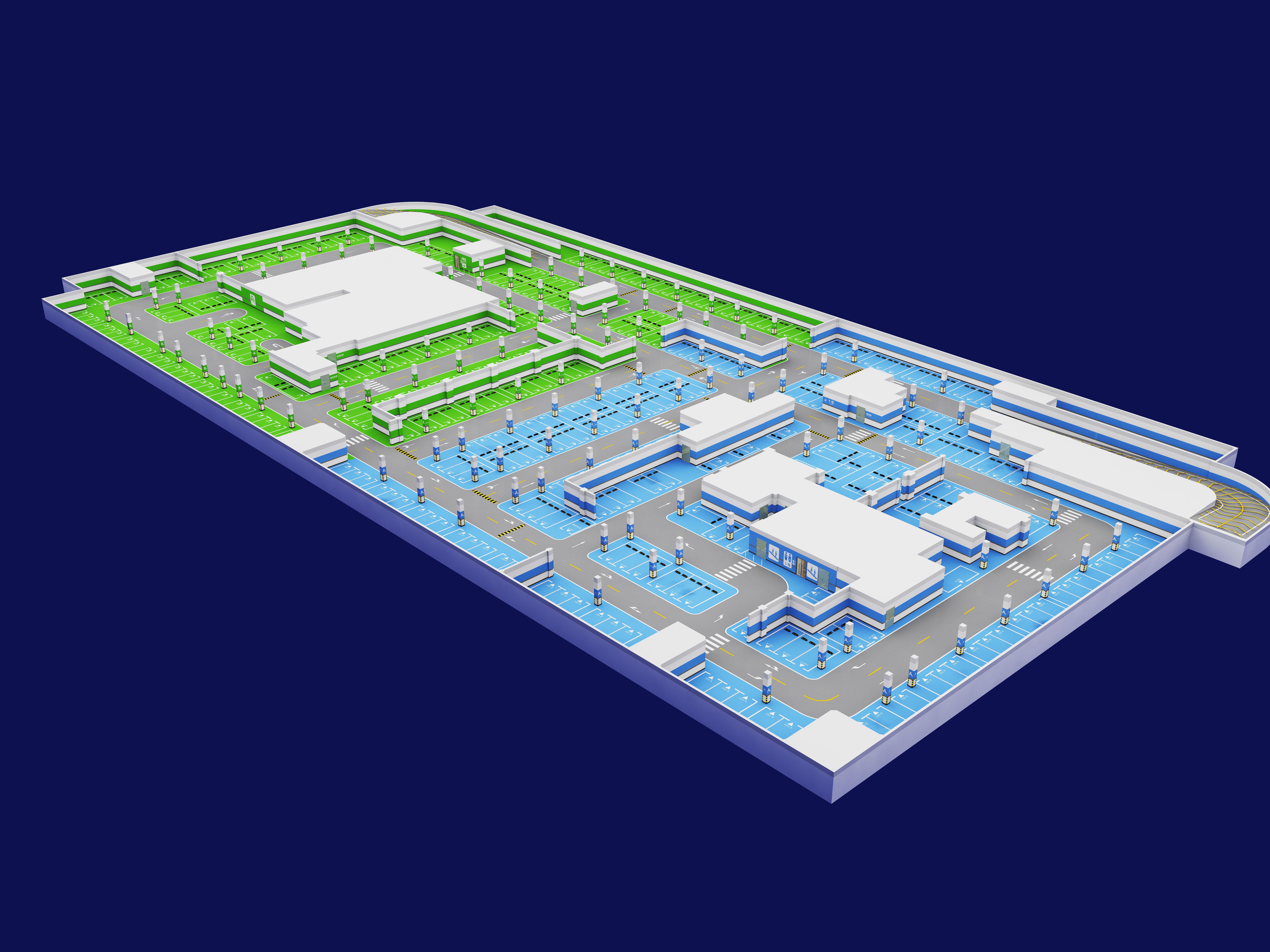 深圳哪里有专业停车场3d规划 深圳停车场3D规划设施工 深圳停车场3D规划设施工 停车场3D规划设计定制
