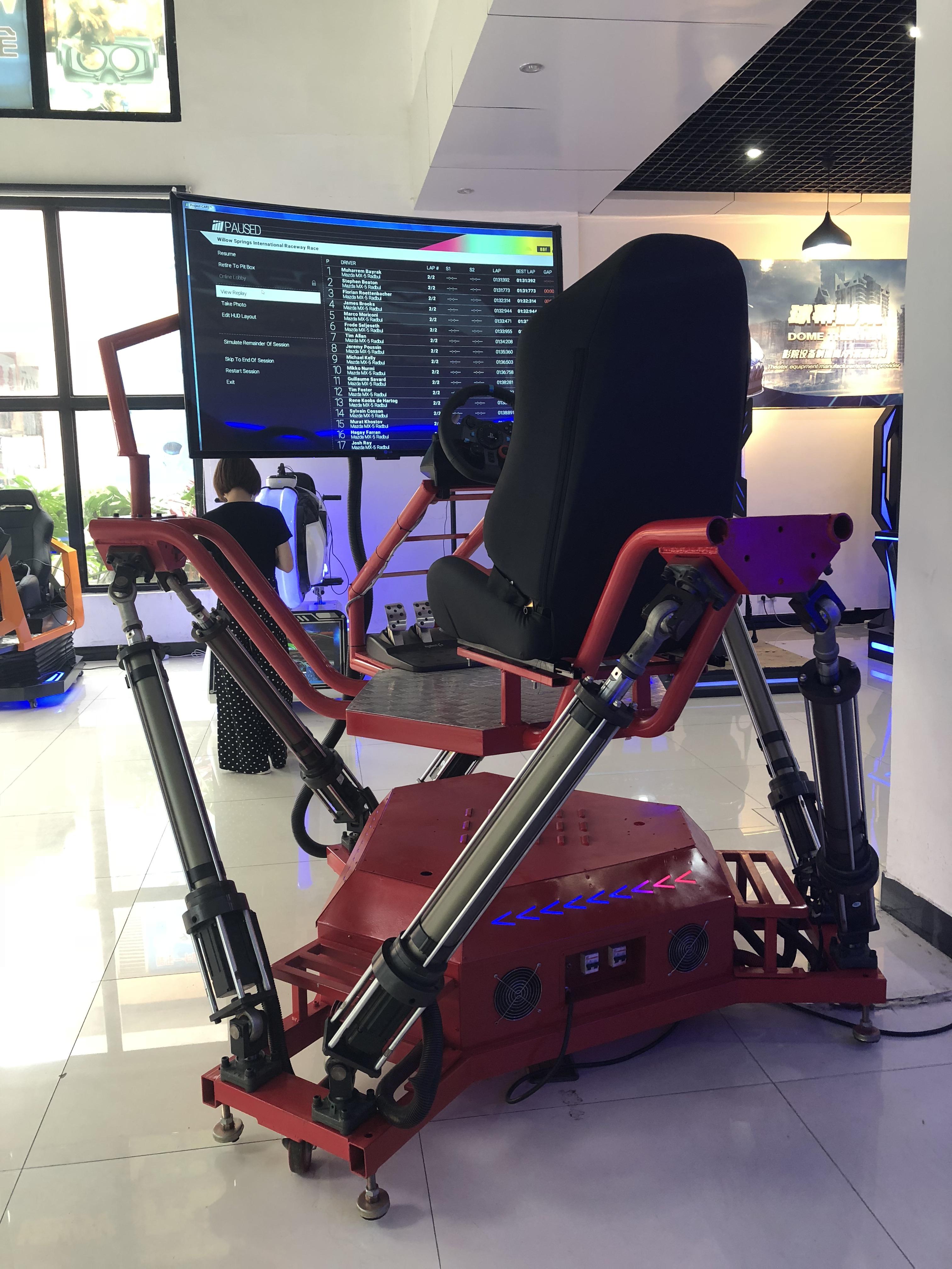 广州动感三屏赛车出租 租赁六轴赛车游戏 VR摩托赛车