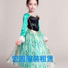 成都租赁儿童服装冰雪奇缘公主裙,白雪公主服装批发