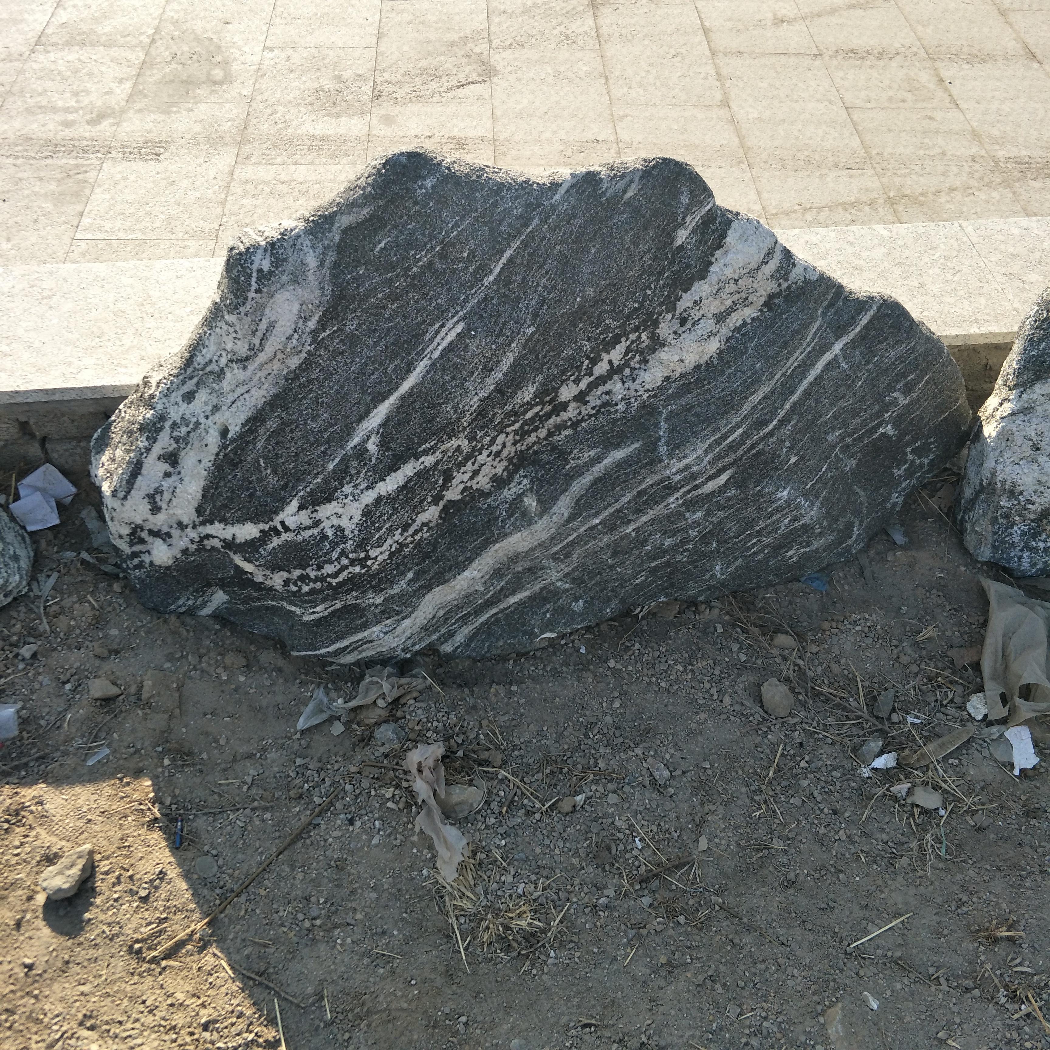雪浪石片石组合景观石摆件泰山石