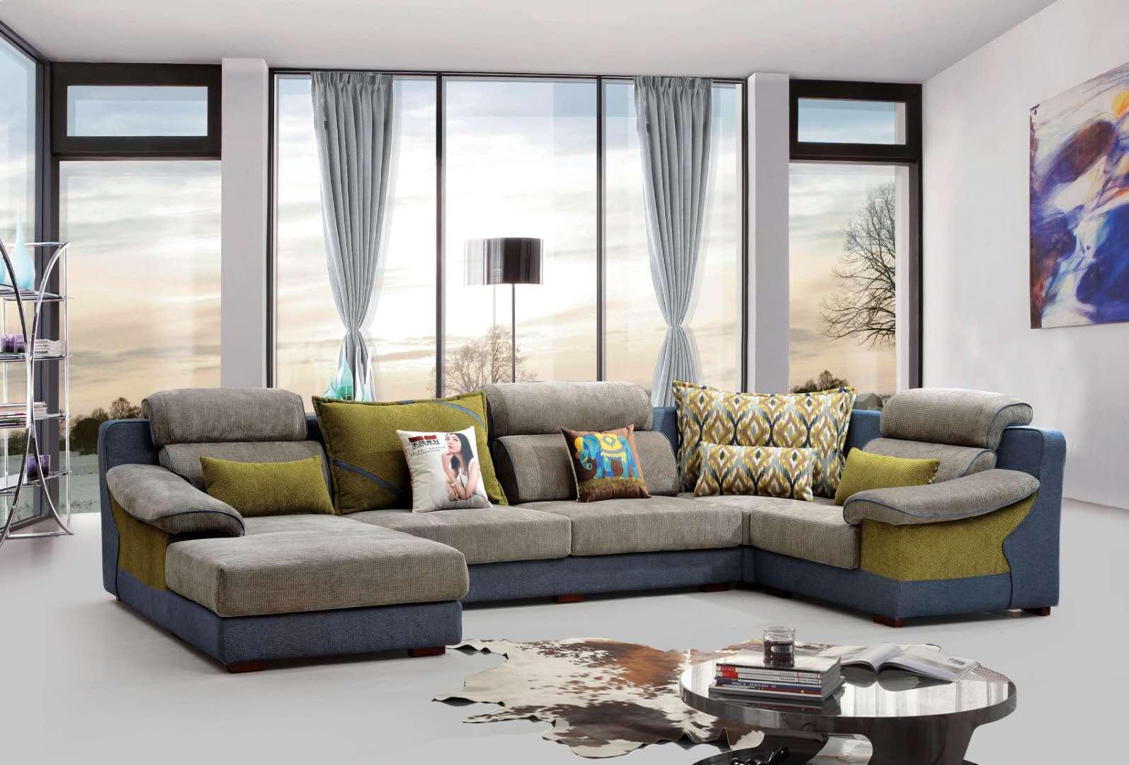 布艺沙发组合小户型北欧家具现代简约客厅整装沙发 北欧风格沙发