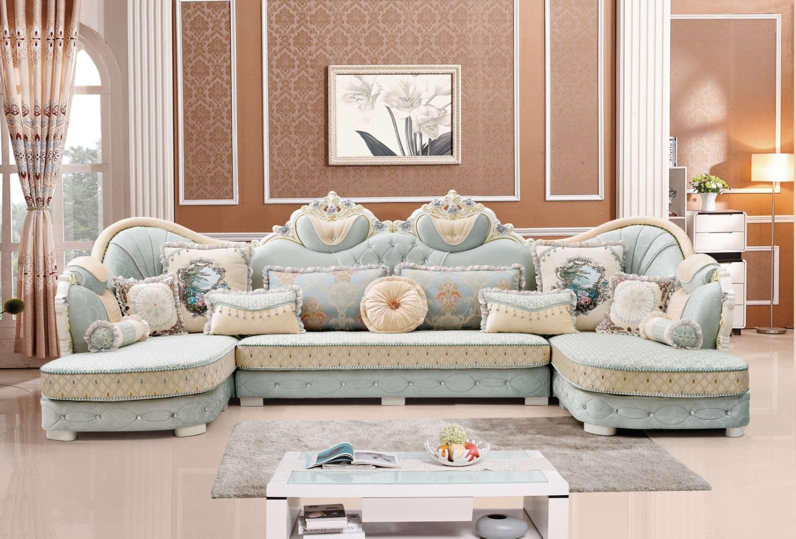 欧式沙发风格小户型客厅组合现代简约沙发实木整装家具