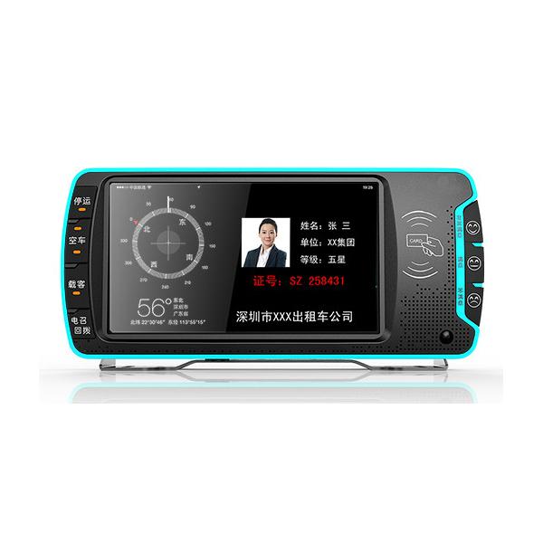 出租车视频监控+计价器+LED广告屏+服务评价器
