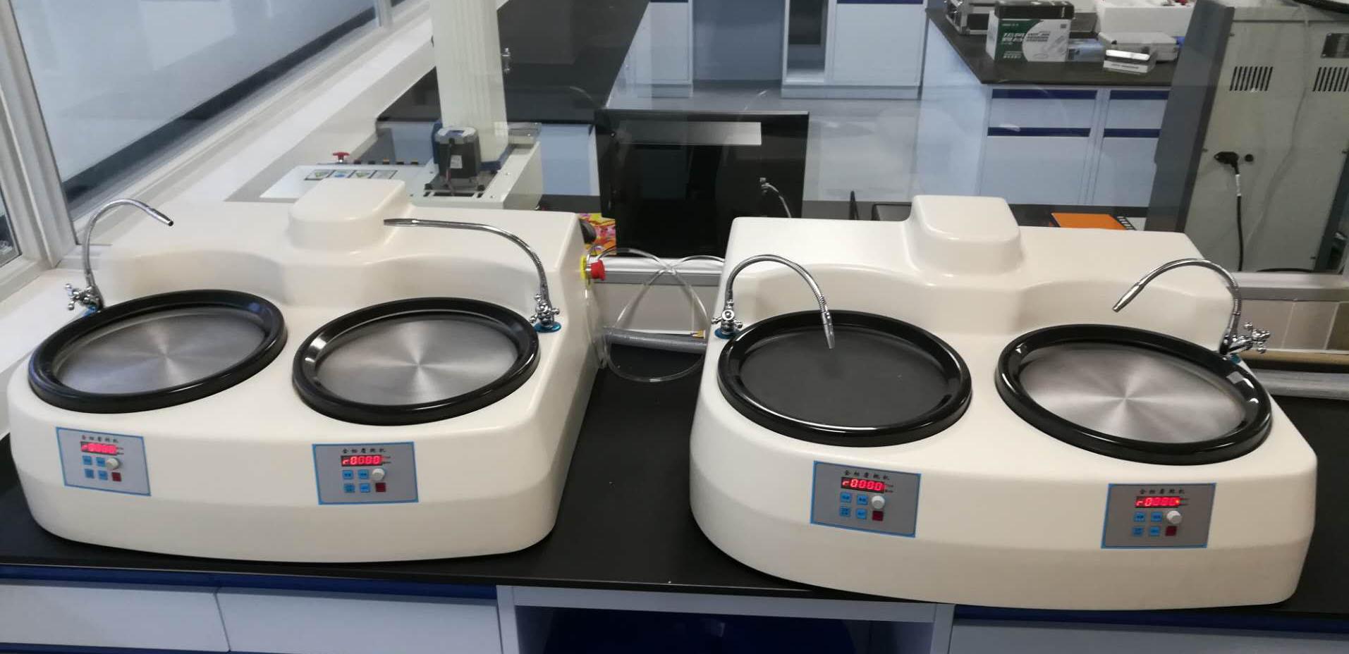 双盘双控金相研磨机 PCB磨切片抛光机 无极调速 12寸