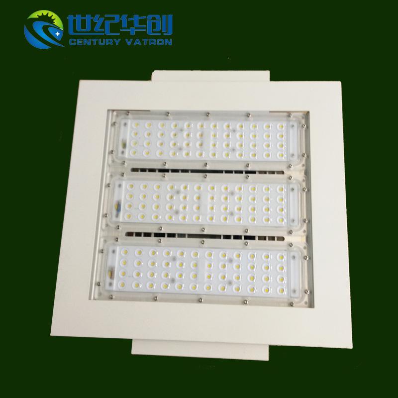 100W 嵌入式LED加油站灯防爆灯收费站照明灯罩棚灯