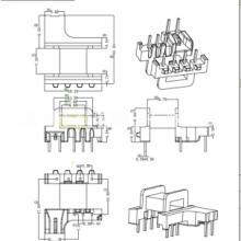 EM15变压器骨架 直插 卧式4+3+2针