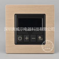 香槟金铝拉丝空调液晶显示器,酒店专用开关,酒店客控面板