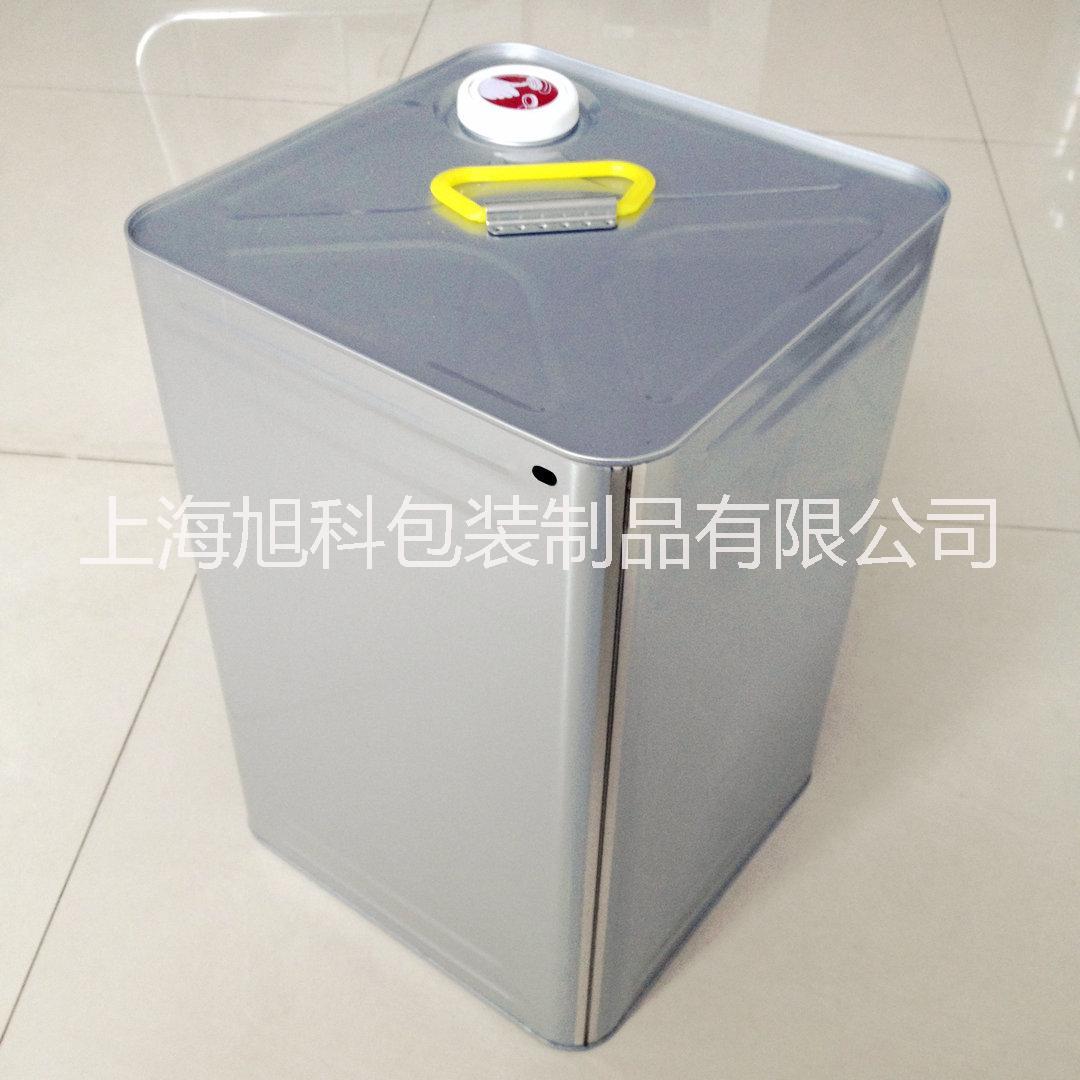18L复合方桶内胆桶18kg钢塑复合化工桶印花剂染色剂桶上海铁桶
