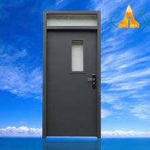 佛山厂家供应学校门钢质烤漆复合门铁门木纹色钢质门