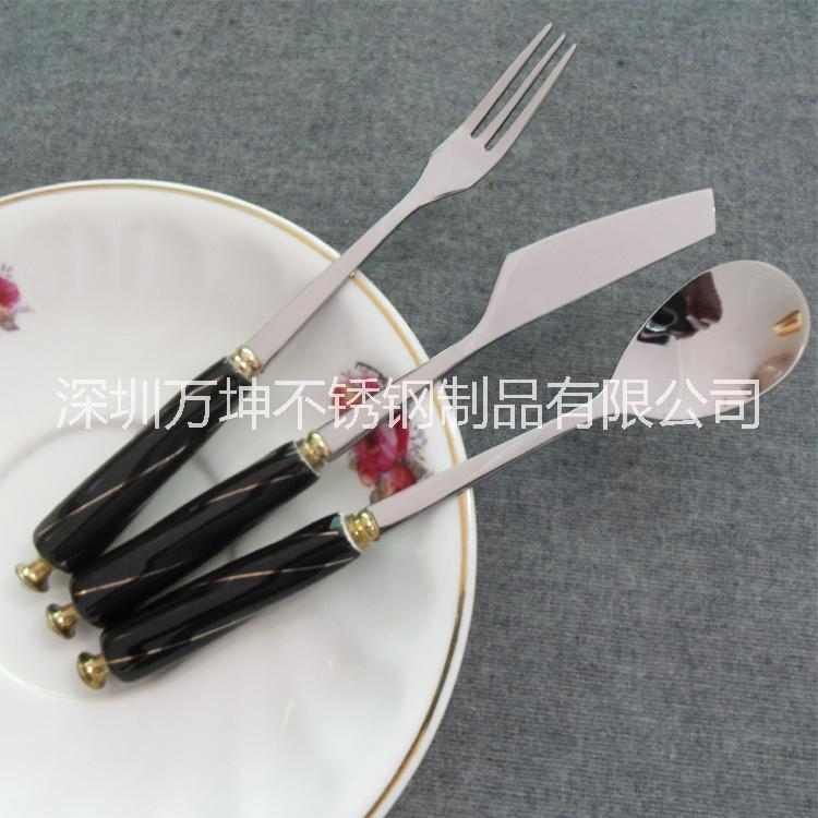 不锈钢月饼刀叉\陶瓷柄螺纹手柄刀销售