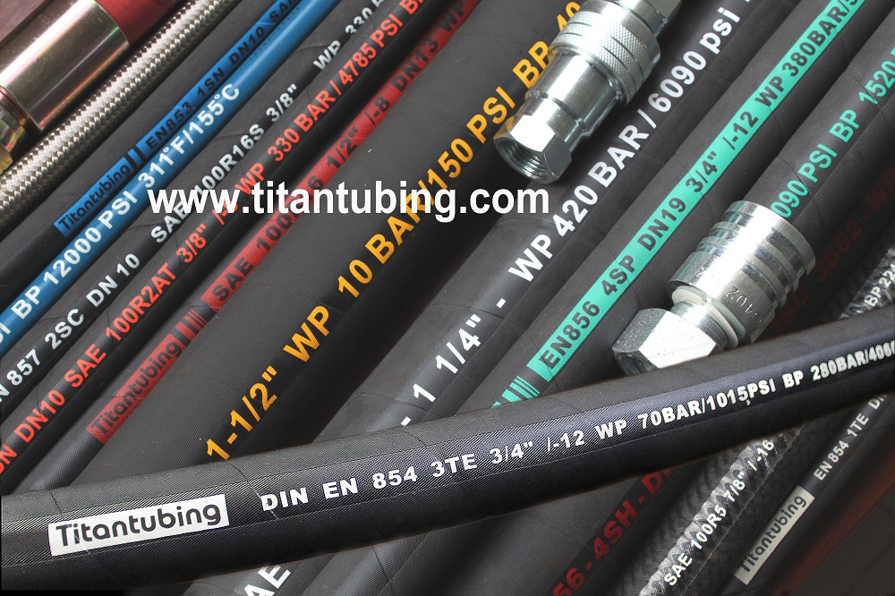 sae100r4高压胶管厂家  sae100r4吸排油橡胶软管 高压胶管批发 高压橡胶管批发