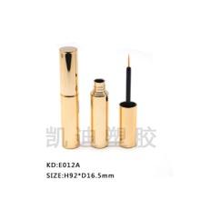 E012A眼线管哑光金色圆柱形眼线液瓶喷漆眼线管厂家批发